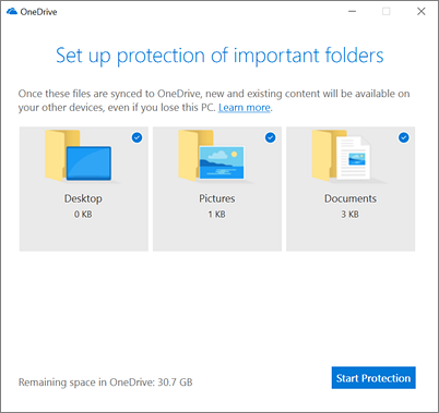 OneDrive protection