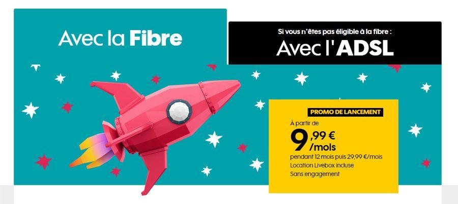 La Boîte Sosh: l'ADSL ou la fibre optique à partir de 9,99€ par mois