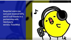 Snapchat: place aux GIF musicaux!