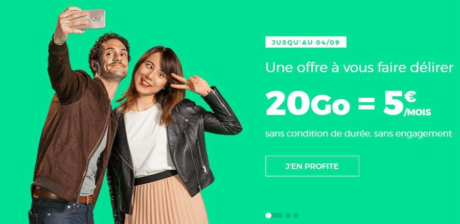 [MàJ] Bon plan — RED by SFR: forfait illimité 20 Go à 5€ par mois