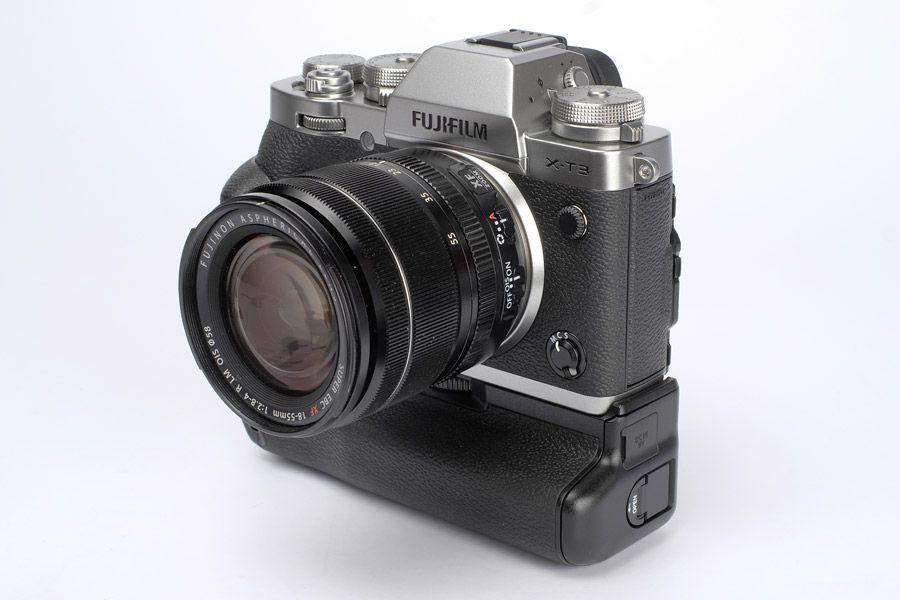Fujifilm x-t3 et poignée d'alimentation