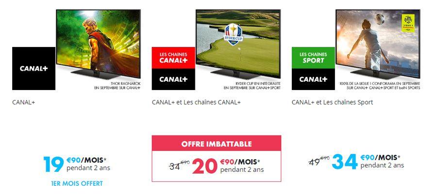 """L'offre """"imbattable"""" de Canal+ pour la rentrée, à 21€ par mois"""