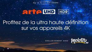 Arte en Ultra HD HDR sur Molotov TV, par la TNT et le satellite