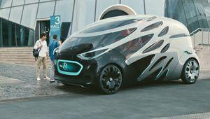 Mercedes Vision Urbanetic: le concept de navette autonome modulable