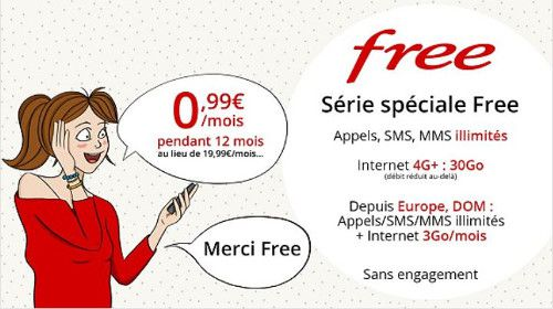 Maj Free Mobile Forfait Illimite 30 Go A 0 99 Par Mois Les