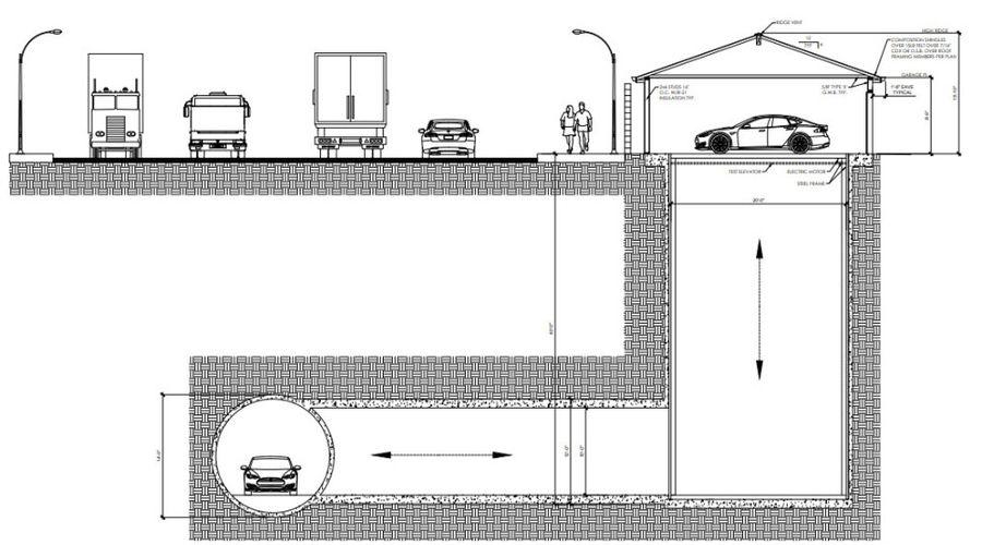 plan projet voiture tunnel