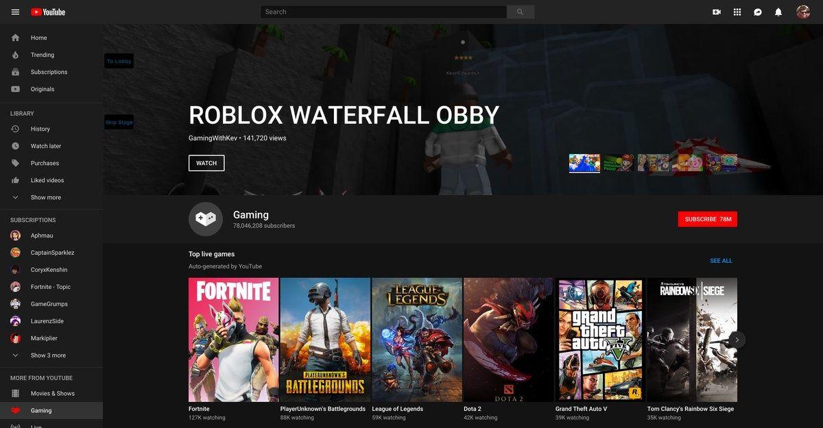 YouTube Gaming on YouTube