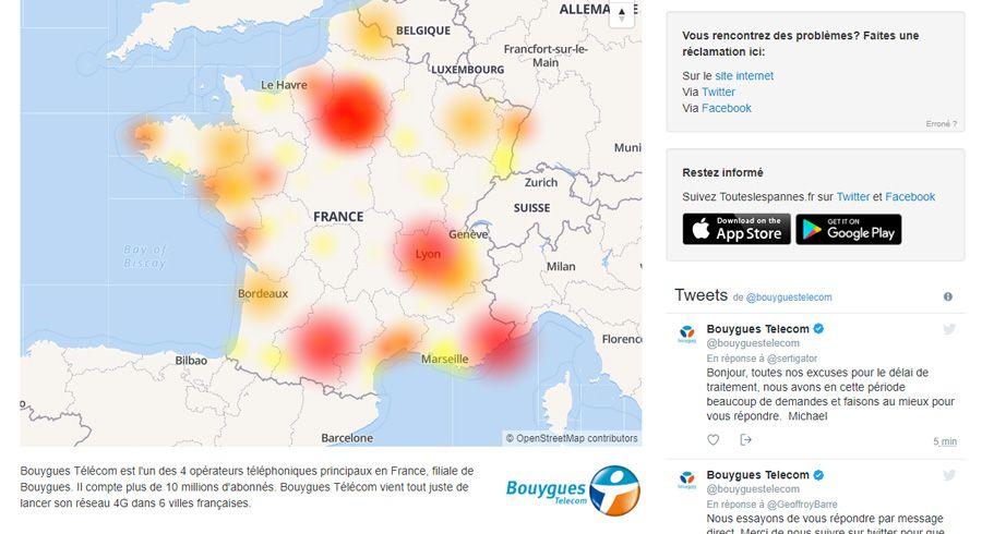 Après Free, grosse panne sur le réseau Bouygues Telecom