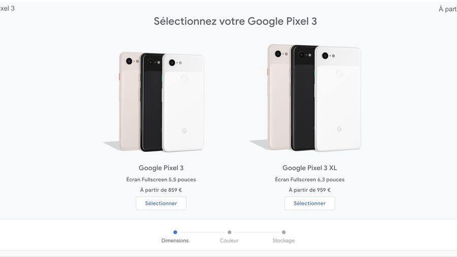 Made by Google 2018 les prix des Pixels 3 et 3XL
