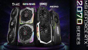 MSI met Nvidia à l'honneur avec six GeForce RTX 2070