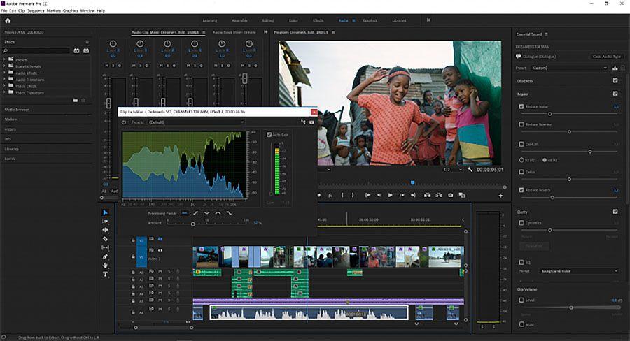 Adobe Premiere Pro 2019, v 13.0, nouvelles fonctionnalités audio