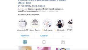 Le site LaFourchette permet de réserver une table sur Instagram