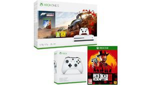 Bon plan – Xbox One S 1 To, 2 pads + Red Dead 2 + Horizon 4 à 260€