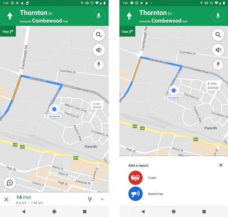 Alerte radars Maps Android Police