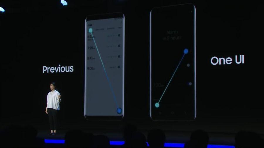 Samsung One UI comparaison alarmes horloge