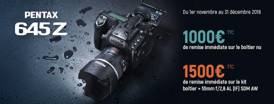 Pentax 645 Z 1000 € de réduction