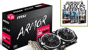 Black Friday – Carte graphique MSI Radeon RX 570 et 2 jeux à 179,90€