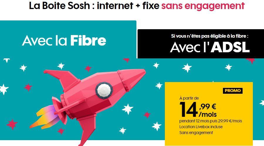 0bce6cdab5816c Bon plan – La fibre sans engagement à 14,99 € mois chez Sosh - Les ...