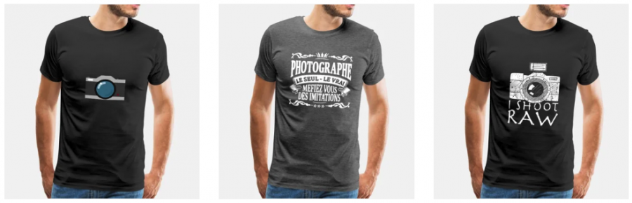 T-Shirt Photo chez spreadshirt