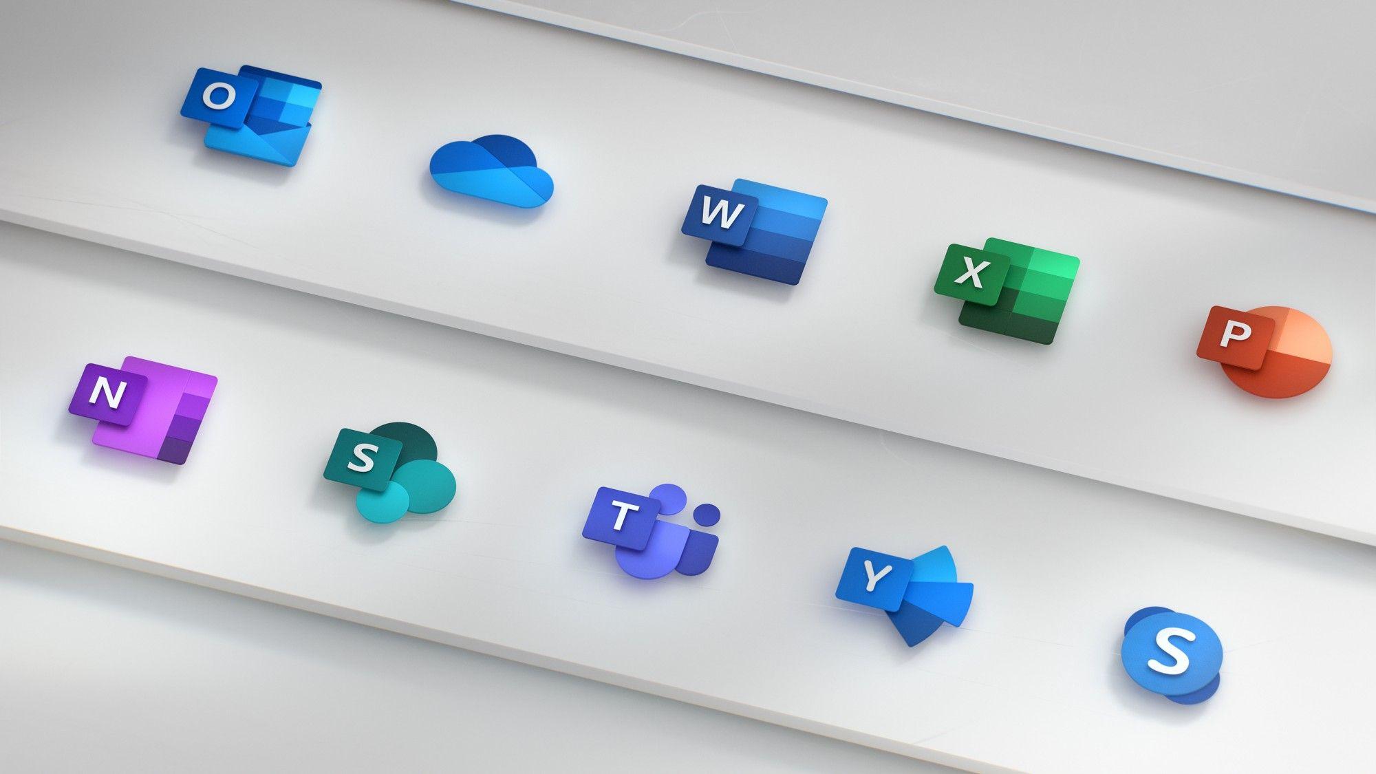 Microsoft Office icones 2018