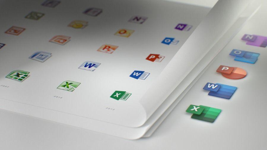 Microsoft Office ic%C3%B4nes anciennes et nouvelles