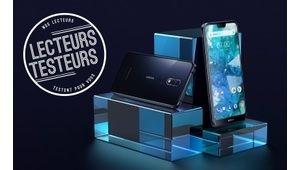 Lecteurs-testeurs Nokia7.1: l'ergonomie et le design