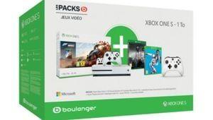 Bon plan – Xbox One S 1 To avec 2 manettes et 4 jeux pour 299€