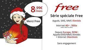 Free prolonge son forfait mobile 50 Go à 8,99€/mois sur Vente Privée