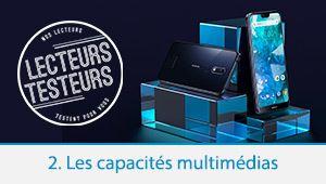 Lecteurs-testeurs Nokia 7.1: les capacités multimédias
