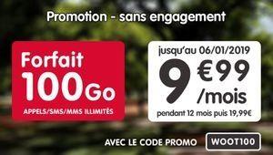 Bon plan – Grosse promo sur le forfait 100Go de NRJ Mobile