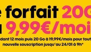 Bon plan – Le forfait mobile 20Go de Sosh à 9,99€/mois