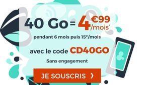 Bon plan – Le forfait Cdiscount Mobile 40Go à 4,99€/mois