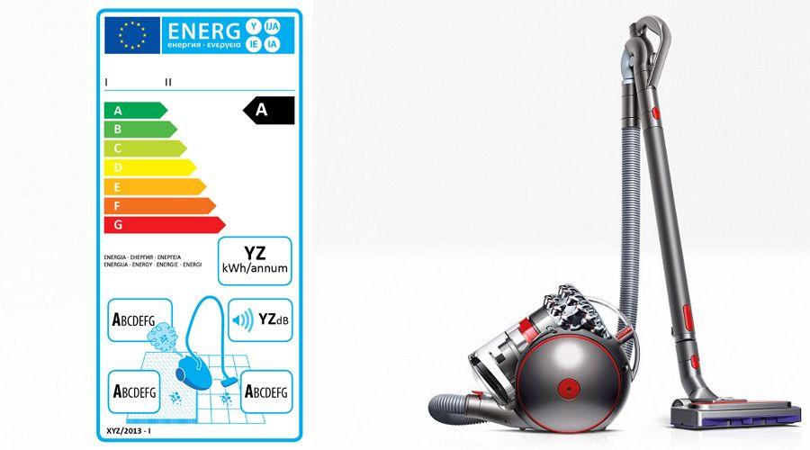 Dyson rend obsolète l'étiquette énergie des aspirateurs-traîneaux