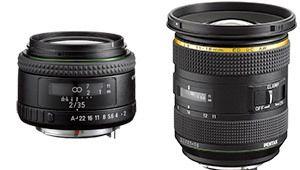 Un 35mm f/2 et un zoom grand-angle chez Pentax