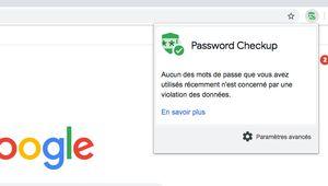 Google Chrome détecte les mots de passe compromis