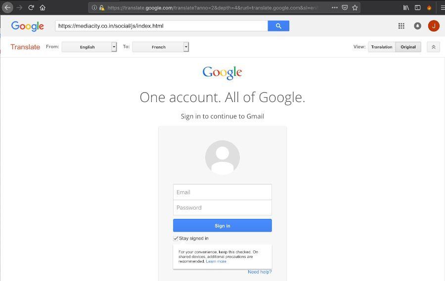 Phishing via Google Translate Akamai