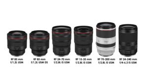 Canon développe six nouveaux objectifs en monture EOS R