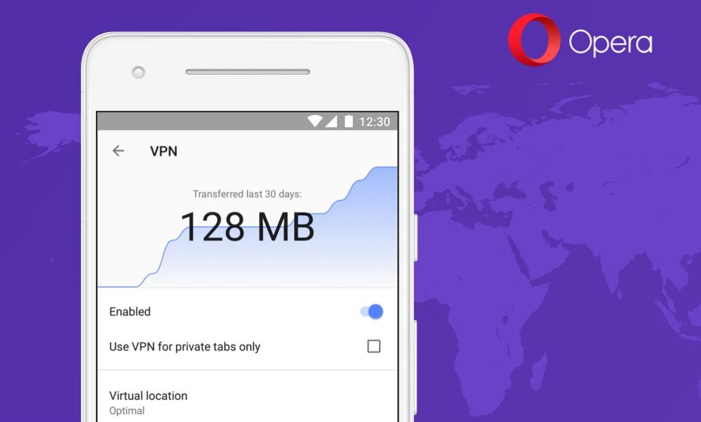 Opera Android VPN activ%C3%A9