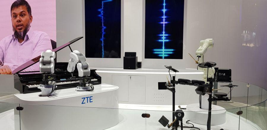 Des robots musiciens chez ZTE
