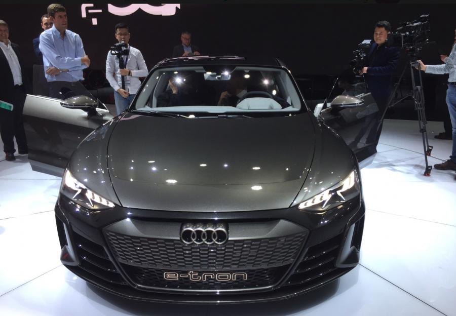 e-tron GT audi  au salon de l'automobile à Genève 2019