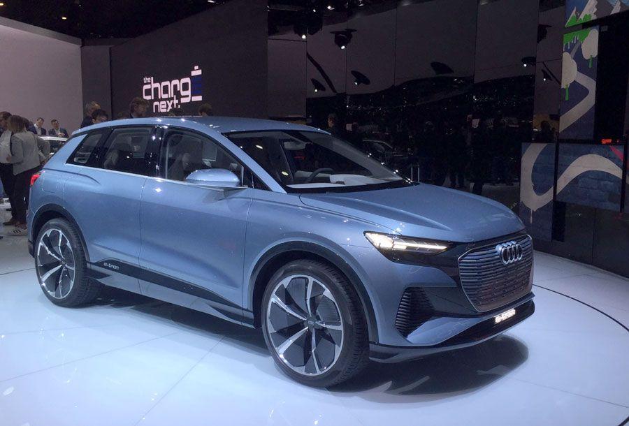 Audi Q4 e-tron au salon de l'automobile Genève 2019
