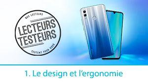 Lecteurs-Testeurs Honor10 Lite: le design et l'ergonomie