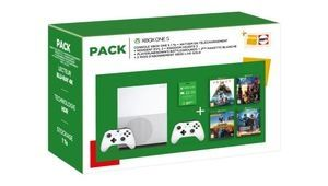 Bon plan – Xbox One S 1 To + 2e pad + 5 jeux + e-carte de 50 € : 300 €