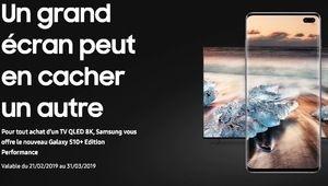 Bon plan – Un Galaxy S10+ offert pour l'achat d'un téléviseur Qled 8K