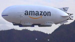 Un zeppelin Amazon et son armée de drones font le buzz