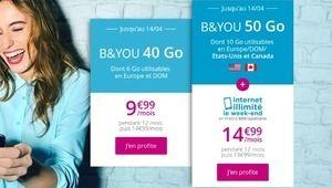 B&You: les promos à 9,99€ et 14,99€ reconduites, mais plus à vie