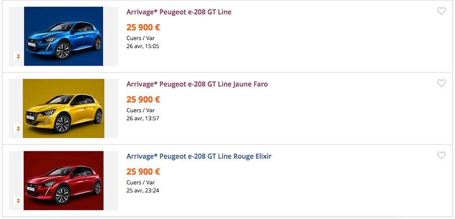Votre Peugeot E 208 Pour 25 900 Sur Leboncoin Les Numeriques