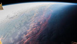 Photo: avez-vous déjà vu un coucher de soleil depuis l'espace?