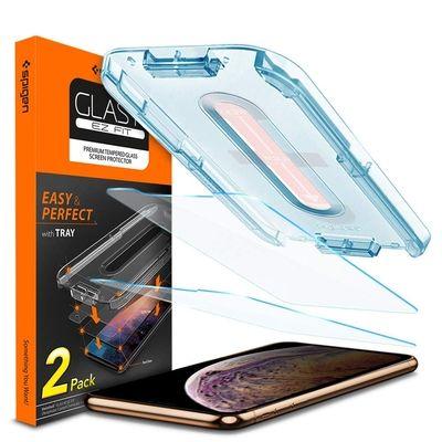 Spigen Glass tR Fit Screen Protector pour iPhone XR
