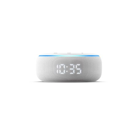 Amazon Echo Dot avec horloge